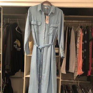 Mango Long Denim Dress.  NWT.  Size 8